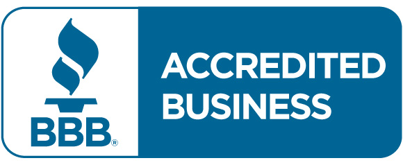 Accredited Business Seal in PMS 7469 horiz